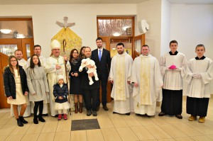 Sv. omša a krst s o. biskupom Mons. Tomášom (27.01.2017)