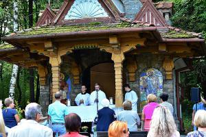 Sv. omša v kaplnke Sedembolestnej p. Márie v Lesoparku Chrasť